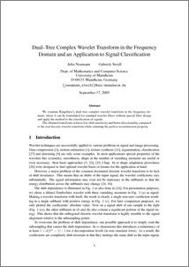 Dual-Tree Complex Wavelet Transform in the Frequency Domain