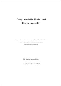essays on skills health and human inequality madoc vorschau
